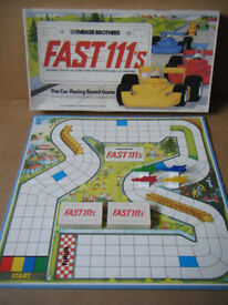 FAST 111's, Motor Racing board game. By Parker Brothers 1981. Complete.