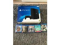PS4 pro 1tb new with 5 games playstation 4 pro boxed