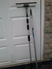 Telescoop Steel Telescopic pole 120cms - 360cms, and 3m water feed handle, never used