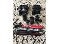 Vintage Pentax cameras X 2