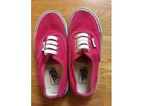 Dark Pink Vans - size 11