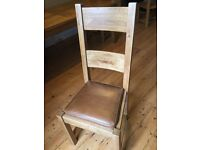 Halo Wentworth Oak Dining Chairs x6 Caramel Leather Seats