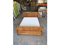 Barre Dugue Kingsize French Oak? Sleigh Bed - Used but in Excellent condition
