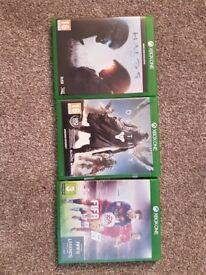 Xbox One Games bundle of three