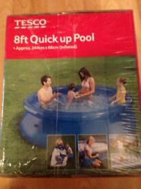 New 8ft quick up pool