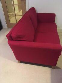 2 Seater John Lewis Sofa in Red