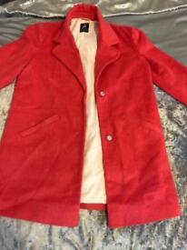 Bright Pink women's Primark collared coat / blazer size 6 - £5 :)