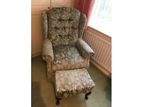 Celebrity Dralon Upholster Armchair With Footstool £80