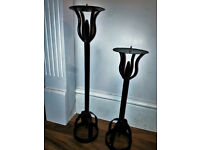 Black Wrought Iron Candle Holders