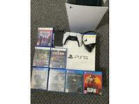 Ps5 disc console + 7Games bundle