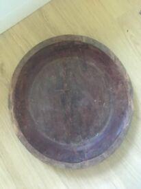 Antique wooden bowl handmade decoration