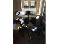 Alesis Burst Kit Electronic Drum Kit, Stool, Sticks, Headphones, Pedals