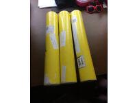 Over 100 used postal tubes