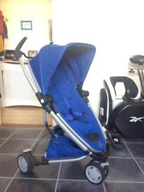 Quinny zapp xtra 2 blue pushchair with accessories