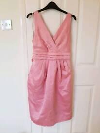 Dusky pink bridesmaid evening dress, size 12