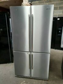 Ex Display Stainless Steel SMEG AAA+++ Class Frost Free American Style Fridge Freezer