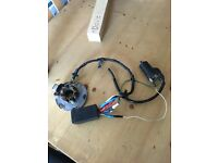 1994 rm 250 crank case and stater plate cdi coil and set of rads 130