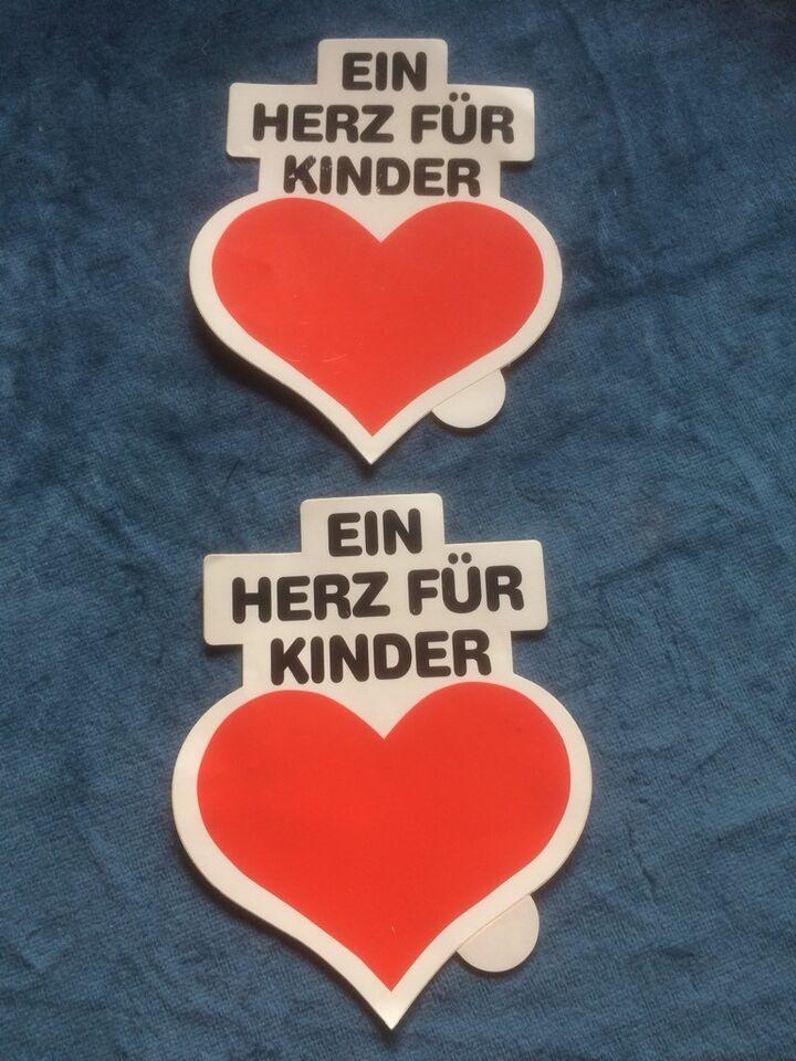 2 Alte Ein Herz Für Kinder Original Bild Hilft Ev Aufkleber