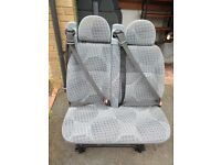 Double Van Seat from Ford Transit minibus 58 plate excellent condition, all fixings included