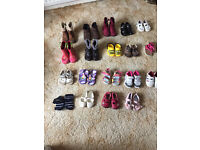 Clarks (and one Monsoon) Shoe Bundle Birth to size 5