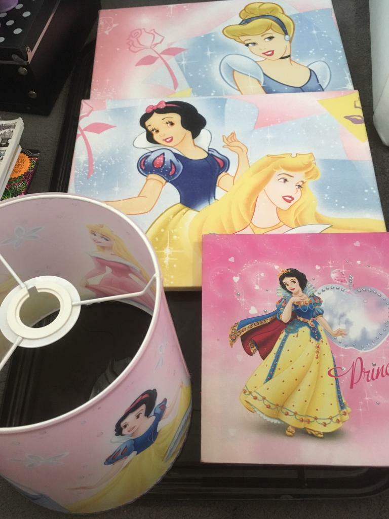 Disney Princess Canvases And Light Shade In Poole Dorset Gumtree
