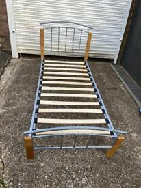 Metal single bed with or without mattress