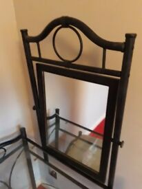 Metal and glass dressing table