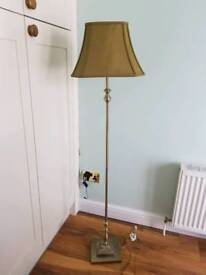 Tall gold lamp