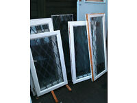 Double glazed window inserts x7 (all have lead over the glass)