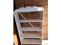 WOODEN WALL SHELF CHABBY CHIC PAINTED BOOKCASE