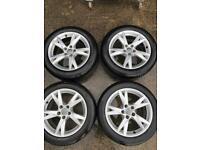 "Genuine Audi 17"" Alloy wheels. Good tyres"