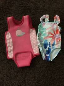 Baby wetsuit and swimming costume