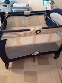 Graco electra travel cot.