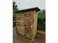Wooden heavy duty garden shed