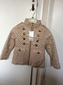 Girls NEXT coat BNWT age 3-4 years