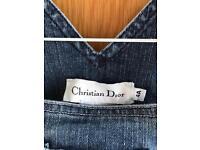 Christian Dior denim pinafore and jacket