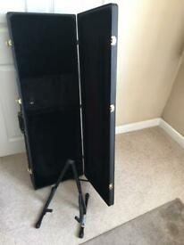 Electric guitar case and stand