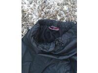 Womens/Teens Black Waterproof Trousers, size 14