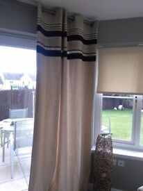 NEXT linen eyelet curtains 66 x 90. Excellent condition.