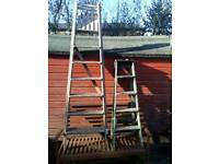 Pair of retro wooden step Ladders