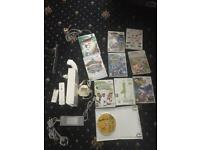 Wii bundle with 10 games battery pack and charger