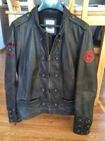 womans leather jacket