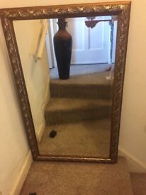 Lovely mirror for sale gold edging excellent condition