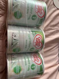 Cow & gate first milk 3 x 700g tins