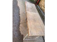 Wooden bench for garage use, art etc