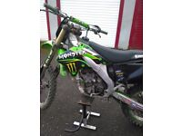 kawasaki kxf 250 motocross bike 06 plate