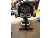 Xbox 360/PC Steering Wheel with GamePod Mount