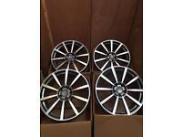 22'' Inch Multi Spoke Gun Metal Silver Alloy Wheels Alloys Rims fits Porsche Cayenne - Panamera