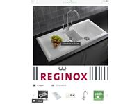 Reginox 1 &1/2 ceramic kitchen sink never used still in box