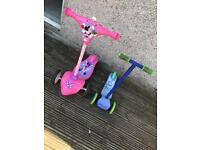 Kids scooters - Minnie Mouse and blue Neon Rider